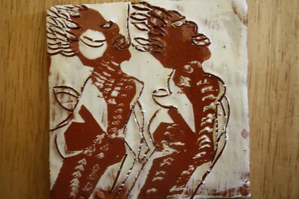 Ceramic Art - Mums Union - Tile by Gloria Ssali
