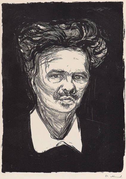 Wall Art - Painting - Munch by August Strindberg