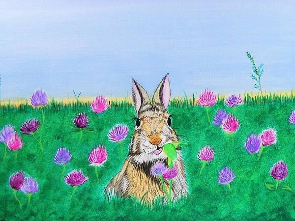Painting - Munching Bunny by Sonja Jones