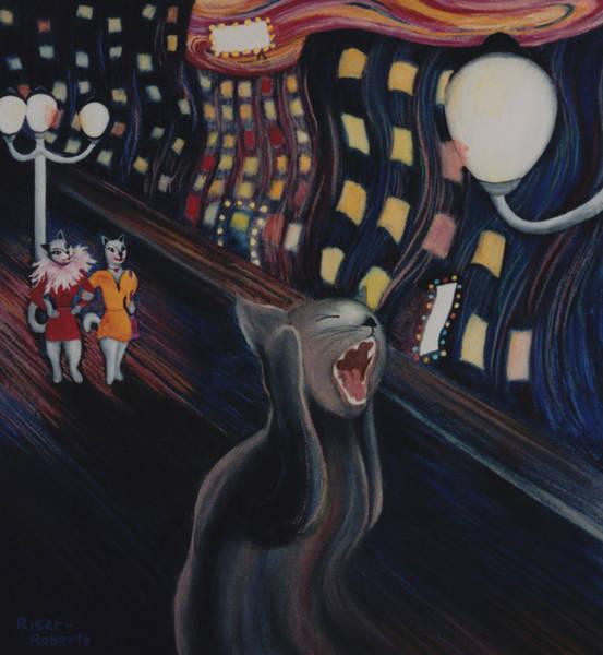 Scream Painting - Munch's Cat--the Scream by Eve Riser Roberts