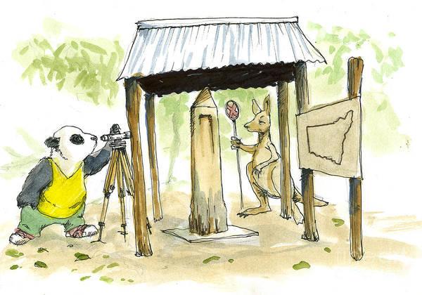 New South Wales Drawing - Mungindi One Ton Post by Tom kerr