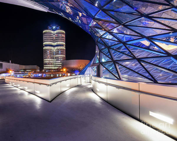 Pyrography - Munich - Bwm Modern And Futuristic by Hannes Cmarits