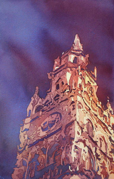 Clock Tower Painting - Munich Rathaus by Jenny Armitage