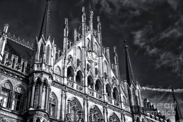 Rathaus Photograph - Munich Rathaus Rising by John Rizzuto