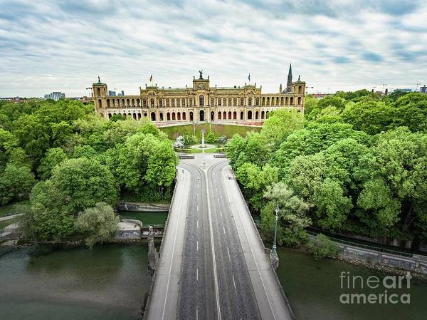 Photograph - Munichs Picturesque Maximilianeum by Hannes Cmarits