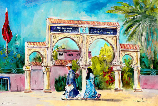 Painting - Municipality In Ait Ourir In Morocco by Miki De Goodaboom
