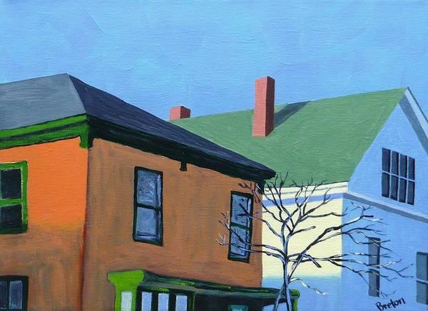 Neighborhood Painting - Munjoy Morning by Laurie Breton