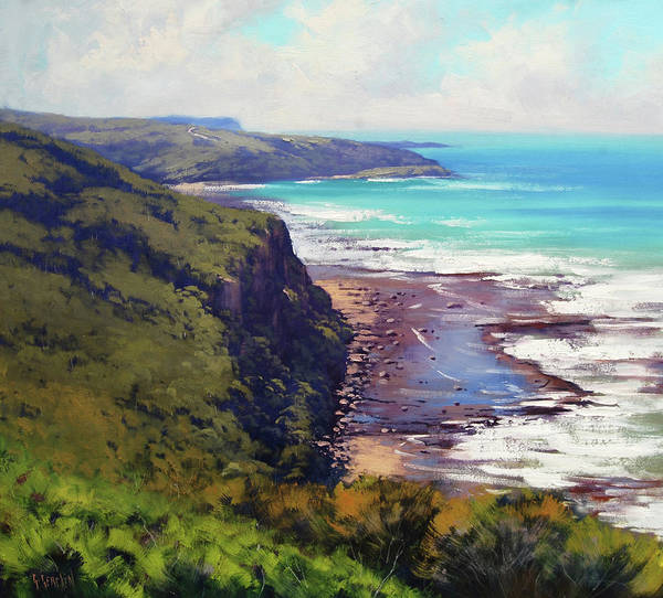 Coastal Scene Painting - Munmorah State Conservation Area by Graham Gercken