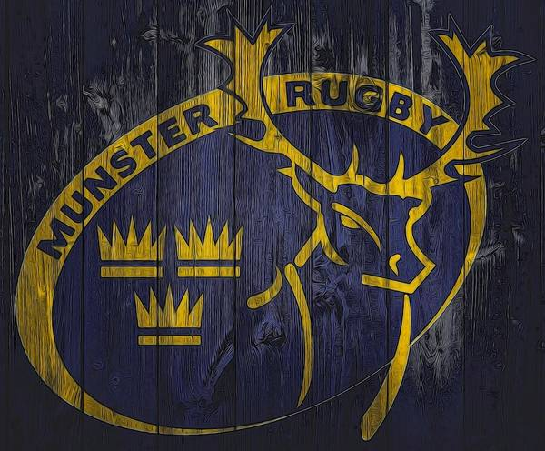 Digital Art - Munster Rugby Graphic Barn Door by Dan Sproul