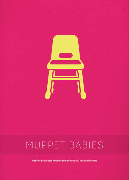 Chair Mixed Media - Muppet Babies My Favorite Tv Shows Series 008 by Design Turnpike