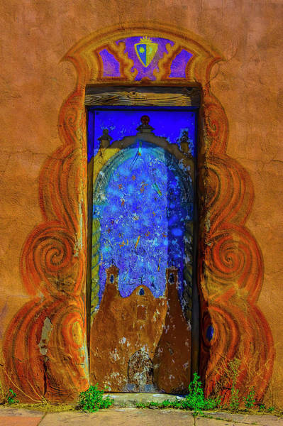 Wall Art - Photograph - Mural Door Santa Fe New Mexico by Garry Gay
