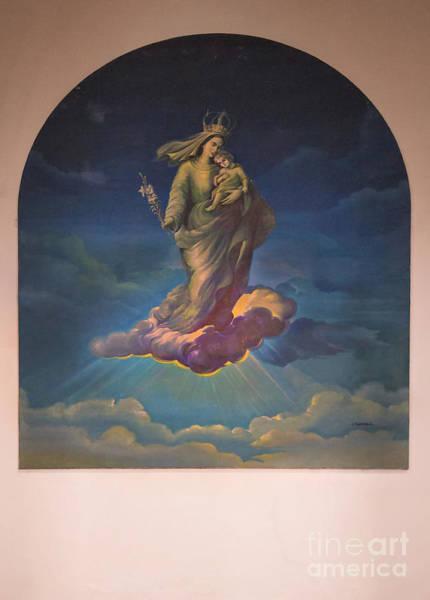 Wall Art - Photograph - Mural In Church At Azogues Ecuador by Al Bourassa