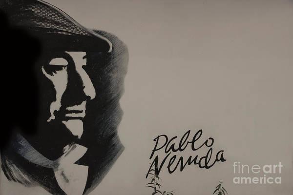 Wall Art - Photograph - Mural Of Nobel Laureate Poet Pablo Neruda by Al Bourassa