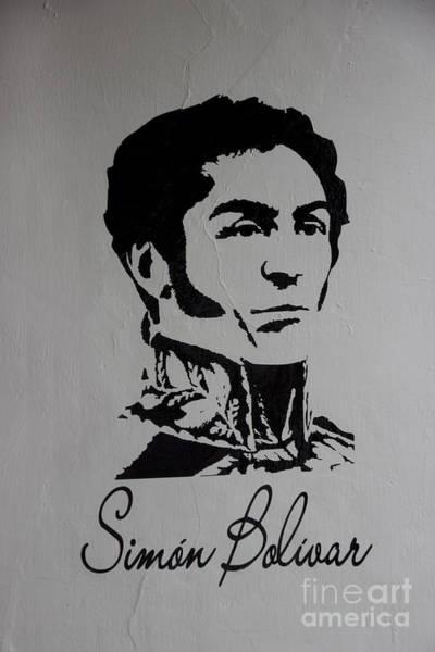 Wall Art - Photograph - Mural To Simon Bolivar In Giron by Al Bourassa
