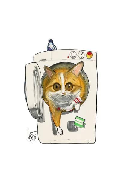 Pet Portrait Drawing - Murchie 3250 by John LaFree