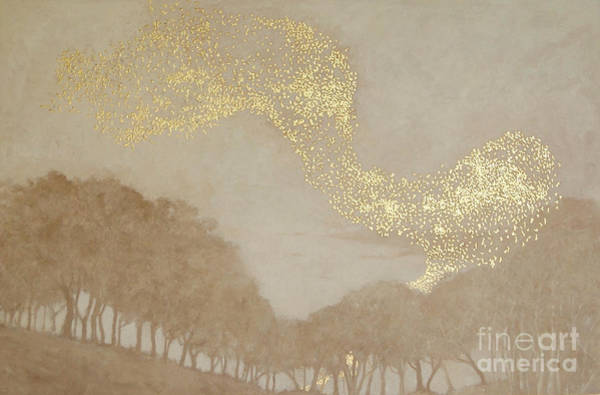 Migration Painting - Murmuration Of Light, 2015 by Angus Hampel