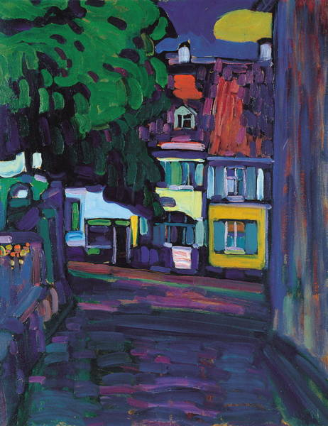 Wall Art - Painting - Murnau, Houses In The Obermarkt by Wassily Kandinsky
