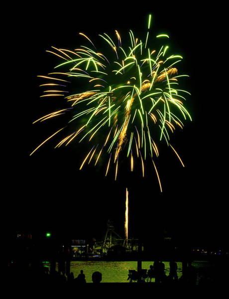Photograph - Murrells Inlet Fireworks by Bill Barber