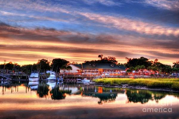Photograph - Murrells Inlet Sunset 3 by Mel Steinhauer