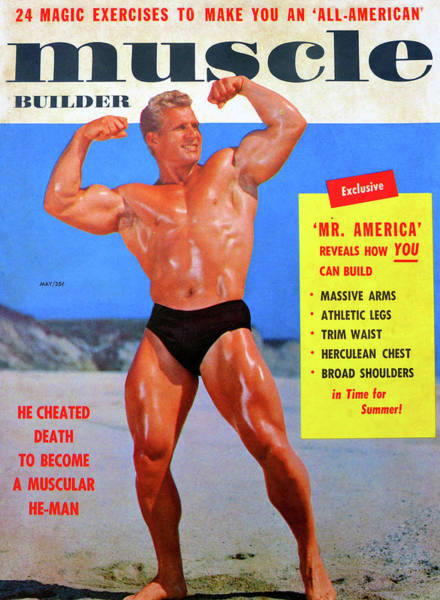 Wall Art - Photograph - Muscle Builder Mag May 1956 by David Lee Thompson