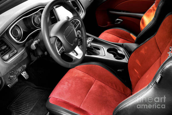 Photograph - Muscle Car Seats Fusion by John Rizzuto