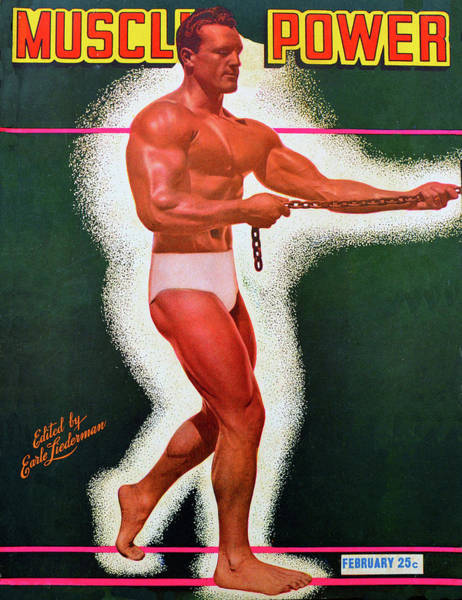 Wall Art - Photograph - Muscle Power Mag February 1948 by David Lee Thompson