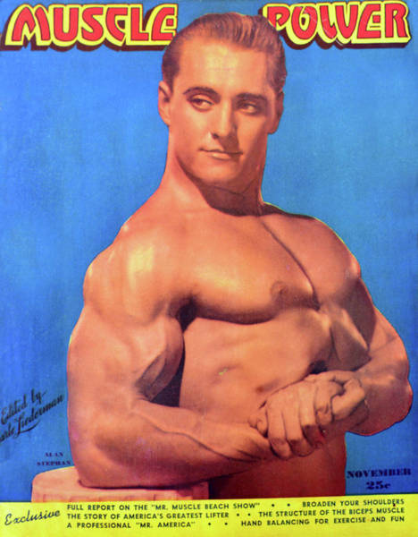 Wall Art - Photograph - Muscle Power Mag Nov 1947 by David Lee Thompson