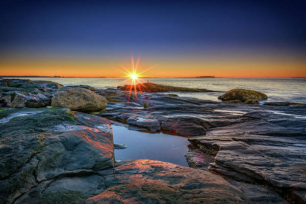 Turmoil Photograph - Muscongus Bay Sunrise by Rick Berk