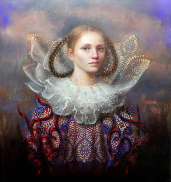 Elizabethan Wall Art - Painting - Muse by Loretta Fasan