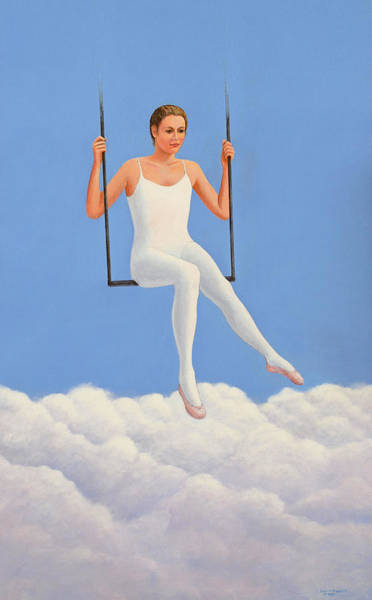 Trapeze Painting - Muse Of Midday by Laurie Stewart