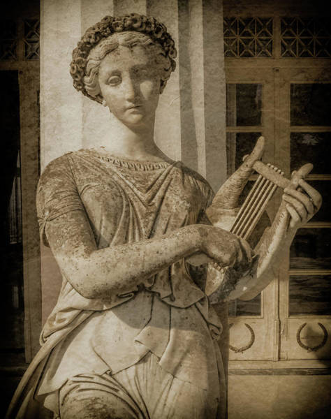 Photograph - Achilleion, Corfu, Greece - The Muse Terpsichore by Mark Forte