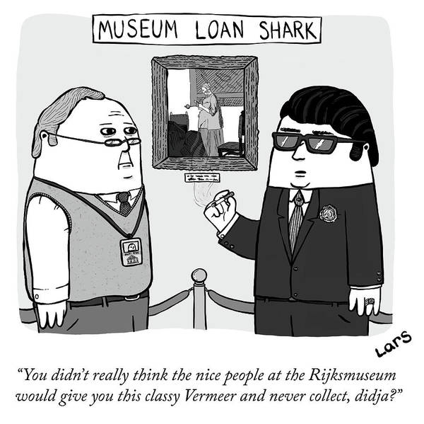 Sharks Drawing - Museum Loan Shark by Lars Kenseth