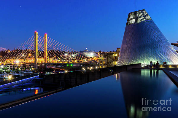 Photograph - Museum Of Glass At Blue Hour by Sal Ahmed