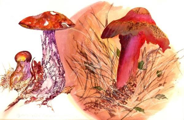 Painting - Mushroom Family by Debbie Lewis