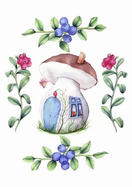 Painting - Mushroom House by Zapista Zapista