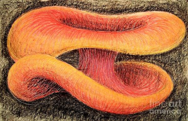 Neon Drawing - Mushroom On Mushroom Action by Xoey HAWK