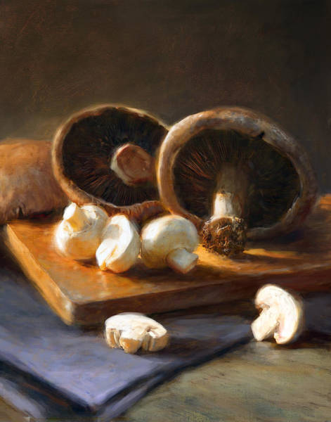 Wall Art - Painting - Mushrooms by Robert Papp