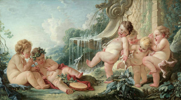 Francois Boucher Painting - Music And Dance by Francois Boucher