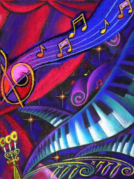 Keyboards Painting - Music And Harmony by Leon Zernitsky