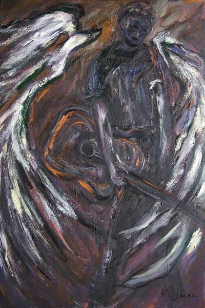 Painting - Music Angel Of Broken Wings by Katt Yanda