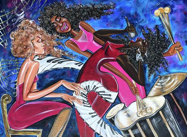 Wall Art - Painting - Music by Artist RiA