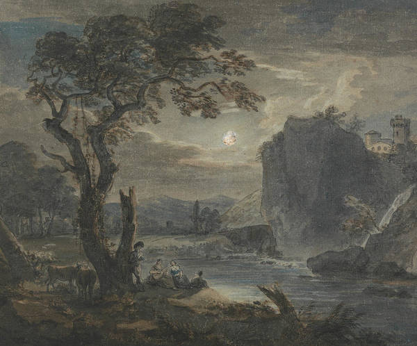 Painting - Music By Moonlight by Paul Sandby