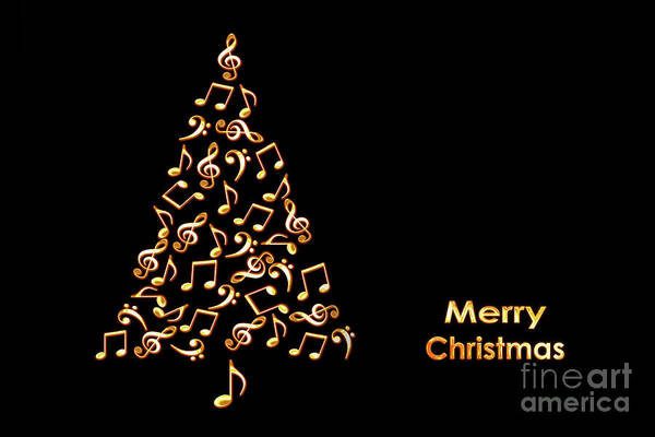 Wall Art - Photograph - Music Christmas Card by Delphimages Photo Creations
