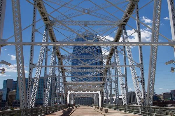 Photograph - Music City Bridge by Chris Alberding