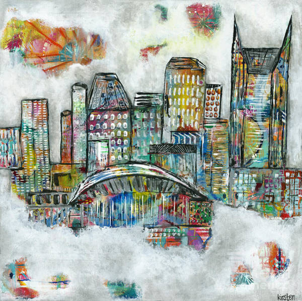 Wall Art - Painting - Music City Dreams by Kirsten Reed