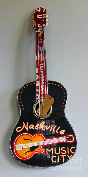 Photograph - Music City Guitar by Jennifer Robin