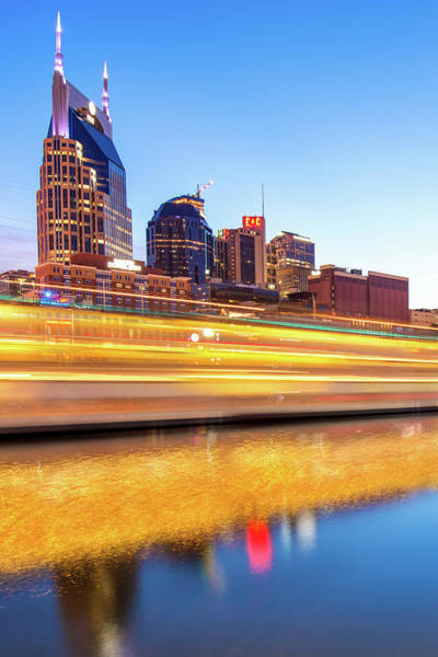 Photograph - Music City Momentum - Nashville Tennessee Skyline by Gregory Ballos
