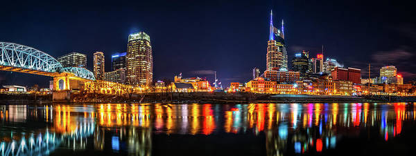 Photograph - Music City Skyline by Andy Crawford
