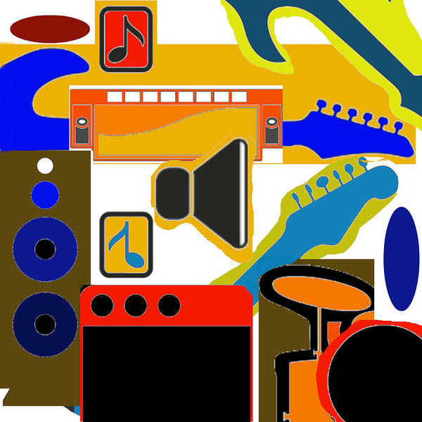 Painting - Music Collage by Joe Dagher