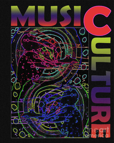 Wall Art - Digital Art - Music Culture by Karen Elzinga